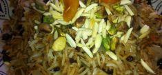 אורז בסמטי עם פירות יבשים וזעפרן